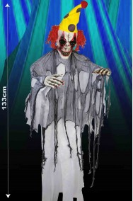 Allestimento decorazione Halloween Clown Horror da appendere alto 133cm