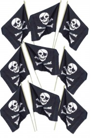 Bandierina pirata con bastoncino