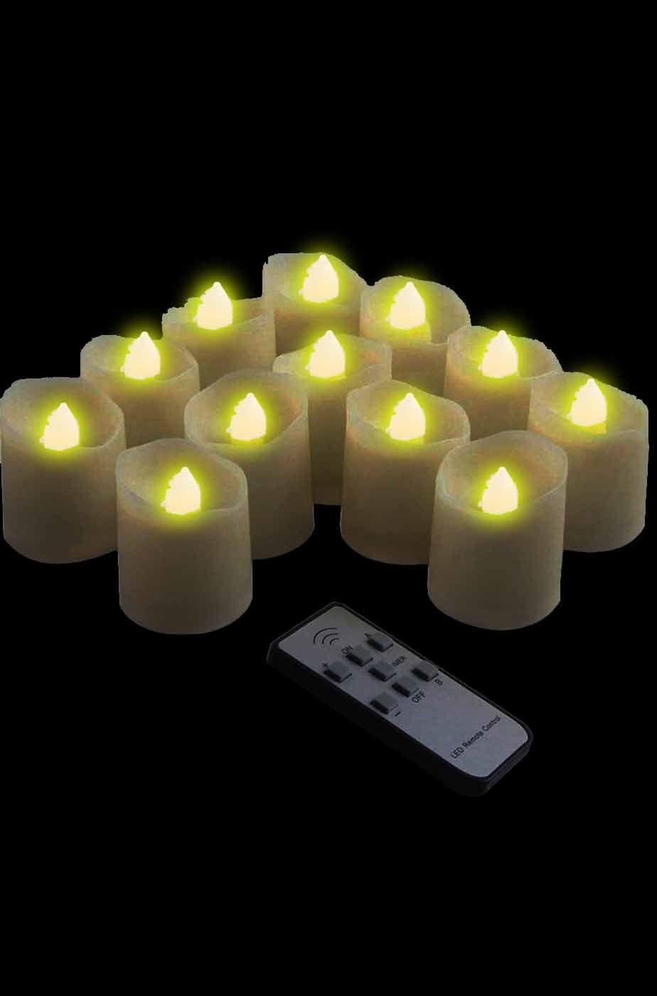 Candele lumini per halloween a batterie con telecomando