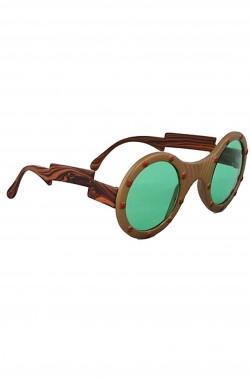 Occhiali steampunk con lente bellissima a dominante verde