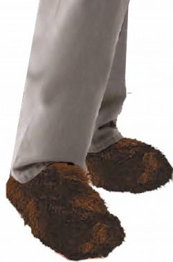 Copriscarpa peloso piedi da lupo marroni