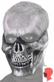 Maschera mascella teschio Halloween ATTENZIONE SOLO MASCELLA il viso va truccato