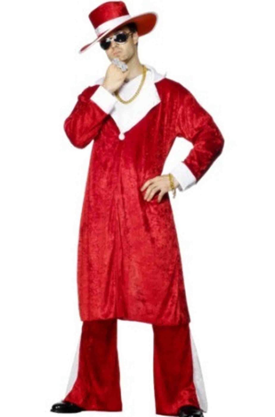 Costume Abito Babbo Natale pappone pimp