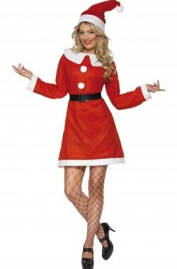 Costume Babba Natale con Pom Pom