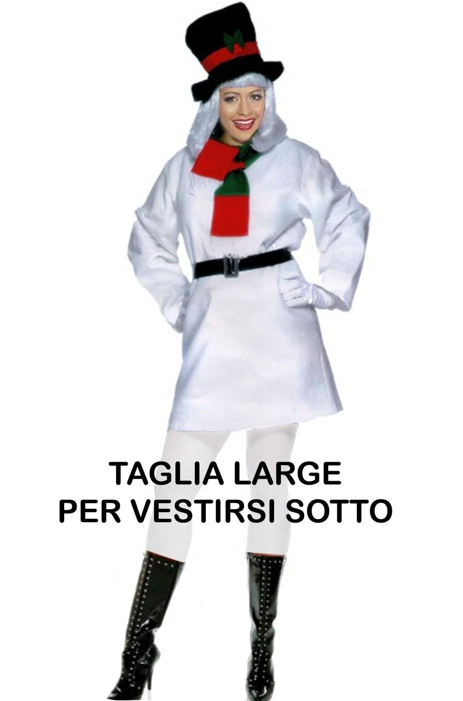 Costume Abito Pupazzo Di Neve donna taglia L
