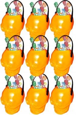 Coppette porta dolcetti segnaposto Halloween 4cm arancioni sei pezzi