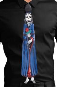 Cravatta Halloween in lattice con Calavera Dia de Los Muertos