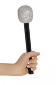 Microfono finto in plastica glitterato