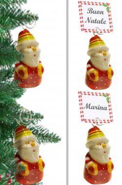 Segnaposto per Tavola Natale Babbo Natale 4 pezzi