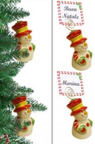 Segnaposto per Tavola Natale Pupazzi di Neve 4 pezzi