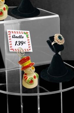 Segna prezzi per vetrine Pupazzi di Neve 4 pezzi