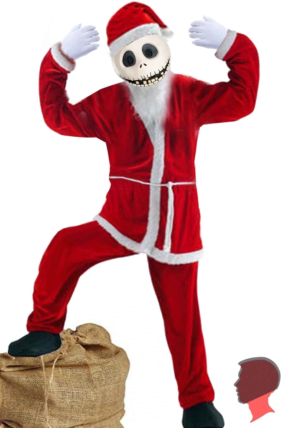Costume Jack Skeletron The Nightmare Before Xmas Babbo Natale