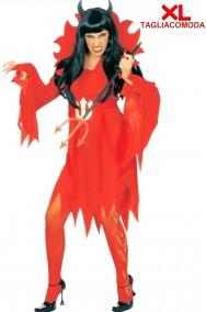 Costume Halloween Adulta Diavolessa o Diavoletta donna