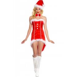 Costume Abito Sexy Babba Natale giacca a tight