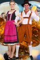 Coppia di costumi da tirolesi o bavaresi oktoberfest adulto