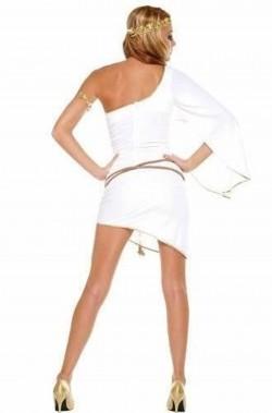Costume donna antica romana o dea greca Afrodite o angelo posteriore