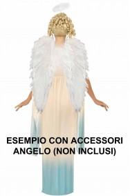 Costume donna da angelo cherubino del presepe posteriore
