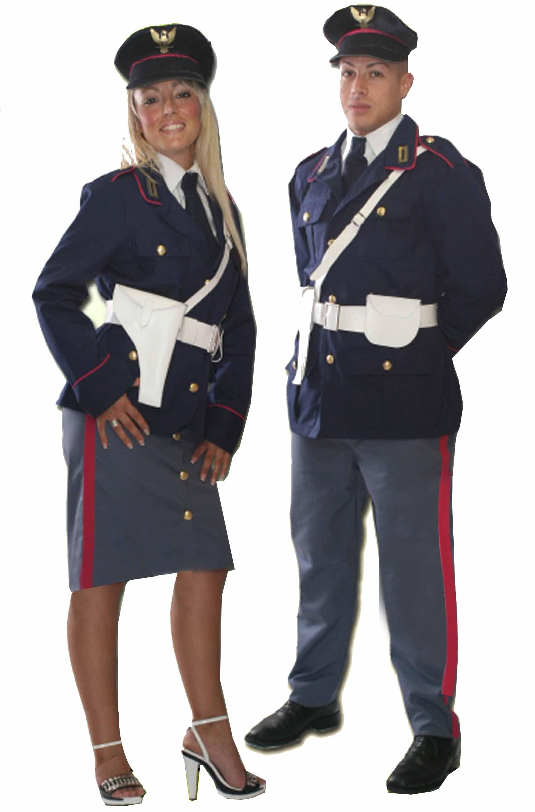 4e4c3b2cb1 Coppia di costumi divisa da poliziotto e poliziotta donna italiani