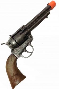 Pistola giocattolo in metallo revolver Cowboy e polizia anni 20