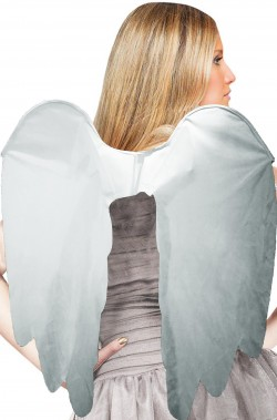 Ali finte in stoffa grigie angelo del cimitero