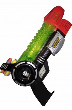 Pistola giocattolo spaziale con luci, suoni, spara freccette