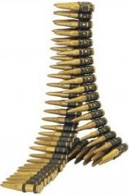Cinturone cartuccera a bandoliera con proiettili