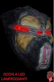 Maschera alieno androide a LED con occhi lampeggianti