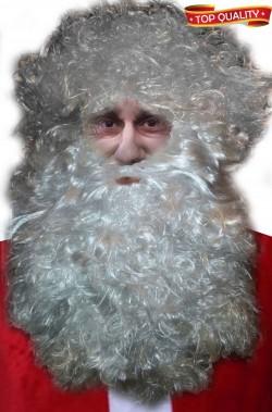 Set contorno testa barba babbo natale lunghissima oltre 40 cm