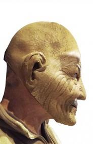 Maschera da vecchio in lattice con i baffi
