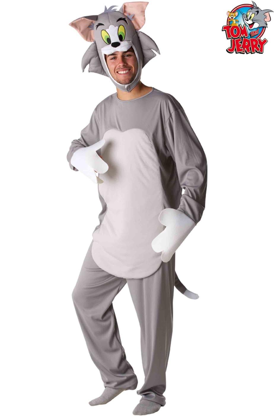 Costume gatto Tom di Tom e Jerry con testa separata