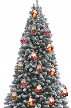 Decorazioni per albero di natale 15 palle in gesso a forma di babbo natale