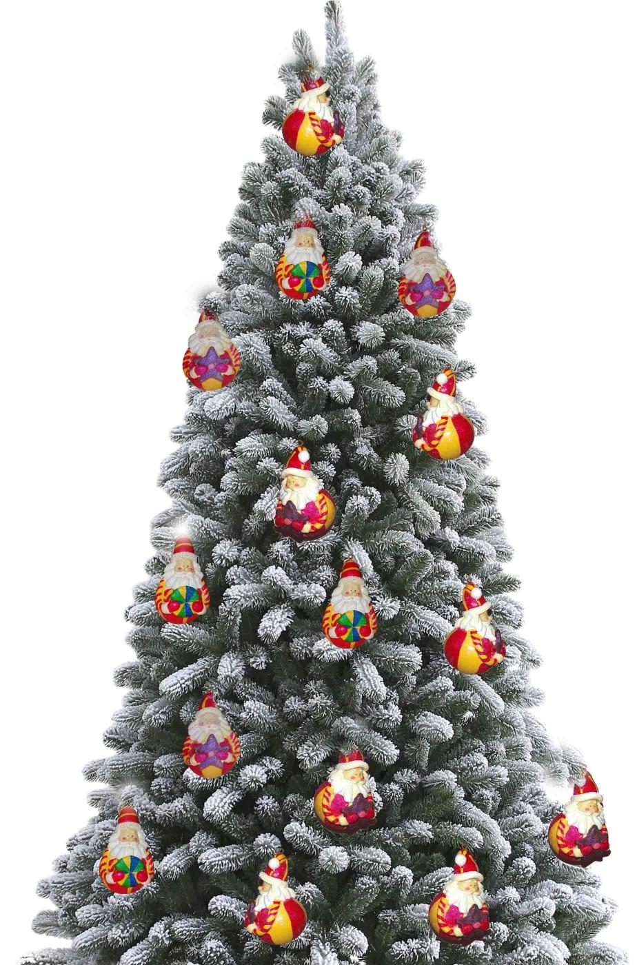 Palle Colorate In Gesso Per Albero Di Natale Belle E Di Qualita