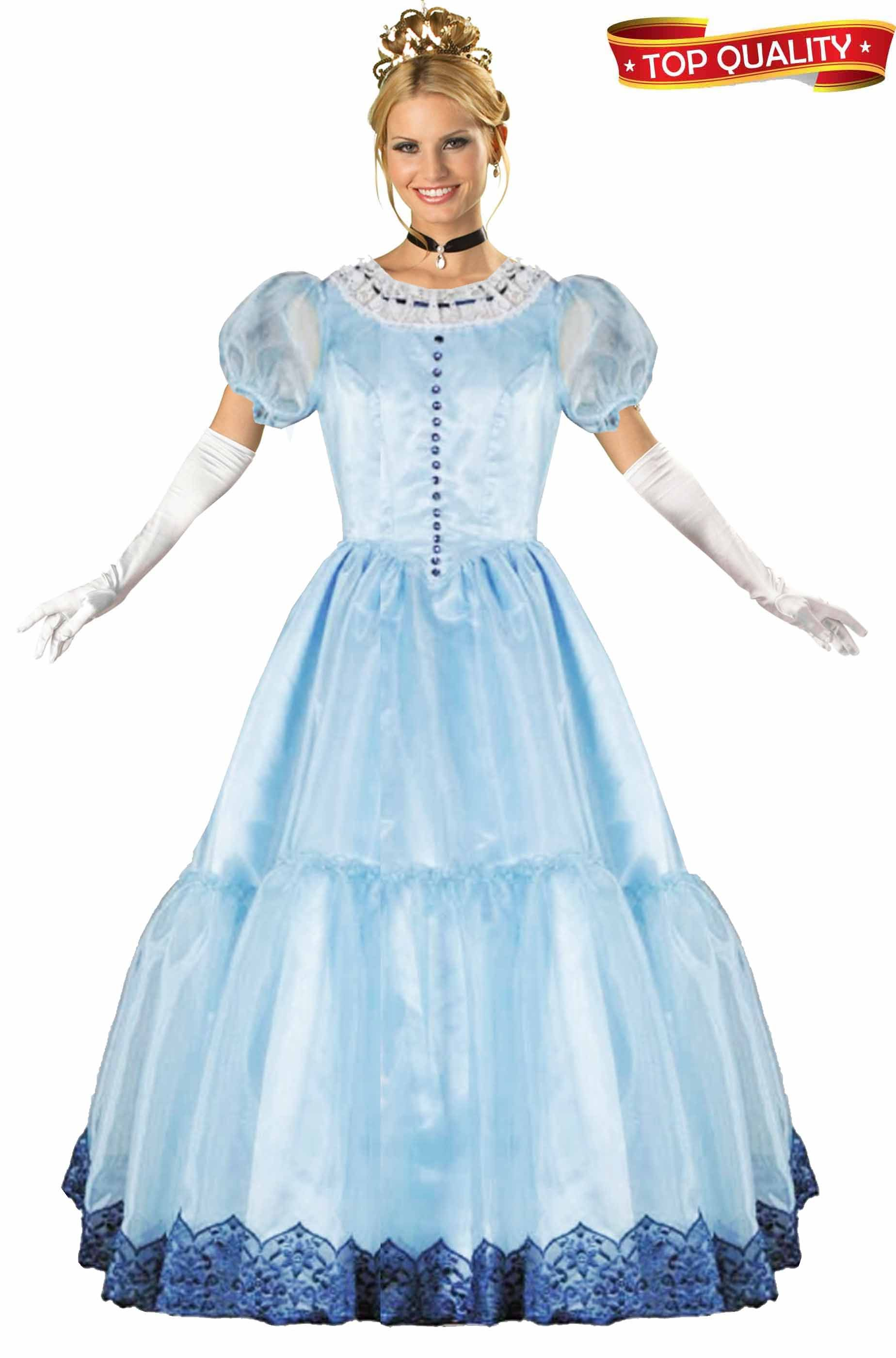 Da Donna Lunghi Bianchi Fantasma Principessa parrucca Halloween Fancy Dress accessorio