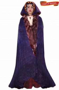 Mantello LARP e Cosplay Lady Marion con pelliccia e foderato