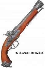 Pistola da Pirata replica metallo e legno