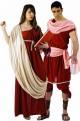 Coppia antichi romani Augusta Lucilla e Marco Antonio
