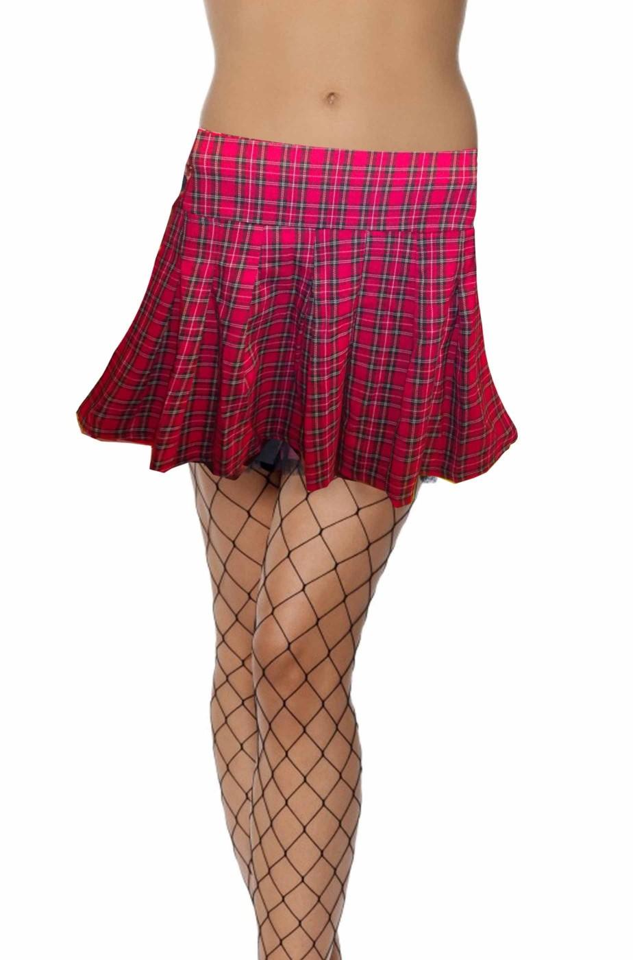reputable site 38255 6c29d Gonna corta a minigonna scozzese con plisse da donna adulta taglia M
