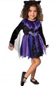 Costume carnevale Bambina Strega Pipistrello