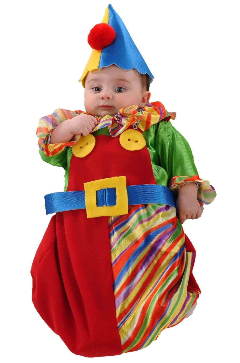 7e435666c1dc Costume di carnevale da bambino neonato clown pagliaccio a sacco