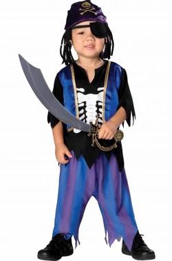 Costume carnevale bambino pirata scheletro