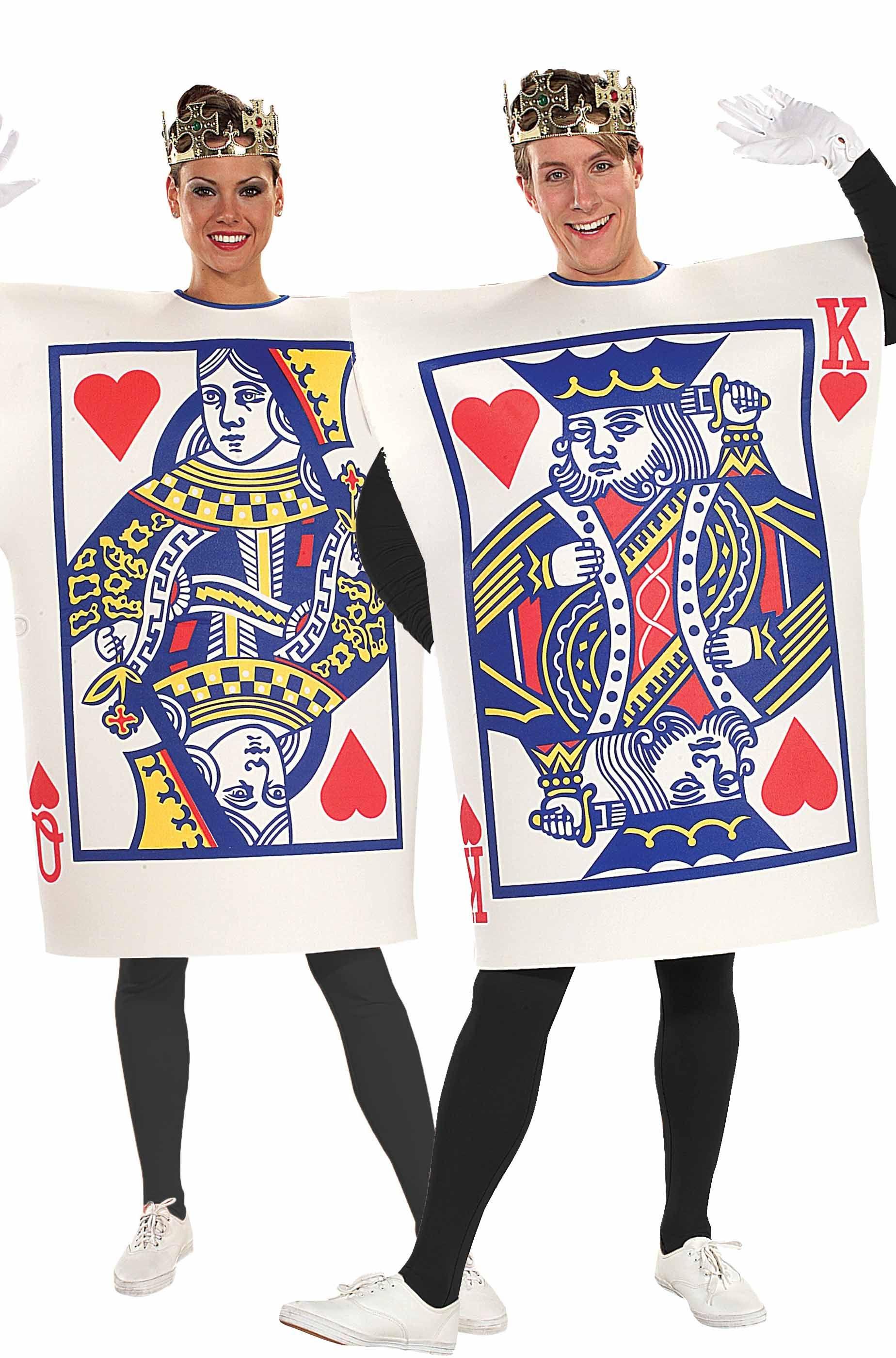 beni di consumo Super sconto una grande varietà di modelli Coppia di Costumi carte da gioco Re e Regina di cuori