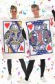 Coppia di Costumi carte da gioco Re e Regina di cuori