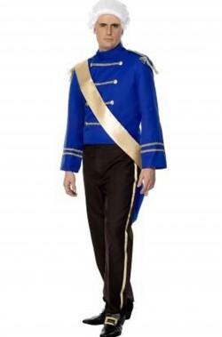 Vestito da principe azzurro giacca blu di Cenerella o Sissi adulto