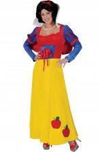 Costume di carnevale da donna da biancaneve classica con mantellina