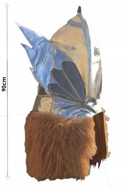 Elmo di Odino enorme elmo vichingo da allestimenti con ali e pelliccia