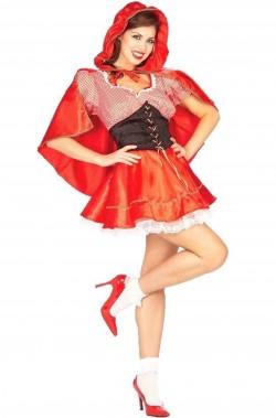 Costume Cappuccetto Rosso donna corto