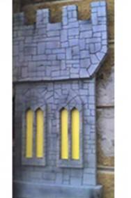 Allestimento Halloween Medievale Fantasy due torri 3D smontabili