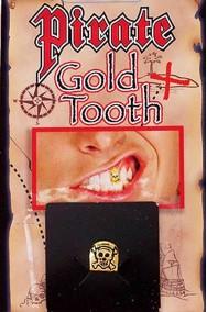 Dente oro finto pirata