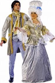 Coppia di costumi 700 Barocco Rococò uomo e donna