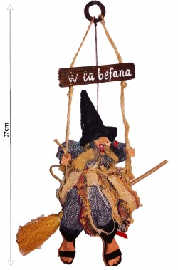 Befana decorativa da appendere W La Befana 37cm